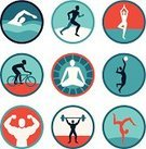 Yoga,Sport,Jogging,Men,Body Building,Symbol,Activity,Muscular Build,People,Gymnastics,Sign,Insignia,Vector,Crawling,Loss,Lifestyles
