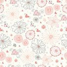 Flower,Heart - Entertainment Group,Backgrounds,Color Image,Ilustration,Vector
