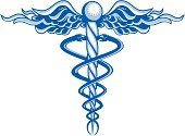 Caduceus,Helix,Medicine,Snake,Artificial Wing,Healthcare And Medicine,Wing,Vector,Symbol,Blue,Reptiles,Medical,Medicine And Science,Animals And Pets,White Background,White,Illustrations And Vector Art