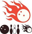 Bowling Ball,Design Element,Bowling,Vector,Fire - Natural Phenomenon,Ball,Set,Isolated,Symbol,Abstract,Leisure Activity,Sport,Flame,Sign