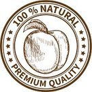 Peach,Merchandise,Label,Rubber Stamp,Track,Certificate,Biology,Organic,Security,Nature,Environment,Seal - Stamp,Advice,Marketing,Ink,Food,Symbol,Sign,Image,Ilustration,Healthy Eating,Vector,Abstract