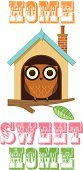 Real Estate Agent,Birdhouse,Real Estate,Cute,Wildlife,Architecture,Concepts,Leaf,Owl,Built Structure,Animal,Computer Graphic,Branch,Ilustration,Bird,House,ISTEXT2012,Residential Structure,Vector,Cartoon,Building Exterior,Home Sweet Home