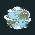Earth,Globe - Man Made Object,Cartoon,Planet - Space,Space,Mountain,Water,Iceberg - Ice Formation,Island,Sphere,Land,Mountain Range,Vector,Hill,continents,Sea,Cloud - Sky,Icecap,Science,Geology,Physical Geography,Topography,Cartography