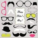 Father's Day,Mustache,Father,Artificial,Human Lips,Love,Creativity,Backgrounds,Humor,Day,Fake Mustaches,Personal Accessory,Greeting,Beard,Shape,Collection,Invitation,Human Face,Whisker,Eyeglasses,Vector,Men,Postcard,Cute,Typescript,Smiling