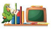 Collection,Bookshelf,Menu,Reading,Computer Graphic,Copy Space,Pets,Shelf,template,Book,Space,Bird,Placard,Billboard,Animal,Parrot,Sign,Advertisement,sides,Image,Lifestyles,Rectangle,Backgrounds,Multi Colored,Wood - Material,At The Edge Of,Clip Art