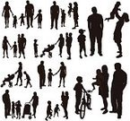Playing,Computer Graphics,People,Image,Happiness,Lifestyles,Positive Emotion,Walking,Parent,Father,Mother,Daughter,Son,Twin,Family,Bicycle,Black Color,Small,Silhouette,Computer Graphic,Child,Adult,Young Adult,Illustration,Group Of People,Males,Men,Boys,Females,Women,Girls,Vector,Wife