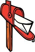 Mailbox,Letter,Ilustration,Vector,Mailbox,Mail