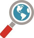 Globe - Man Made Object,Magnifying Glass,Earth,Searching,Internet,Symbol,Computer Icon,Vector