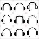 Headphones,Computer Icon,Symbol,Listening,Vector,Headset,Black Color,Ilustration,Disco,Equipment,Cable,Electrical Equipment,Music,Recording Studio,Computer Graphic,Mobility,Entertainment,Speaker,Microphone,Bass,Stereo,Personal Accessory,Sound,Set,On The Phone,Volume - Fluid Capacity,Technology,Telephone,Radio,Individuality,Electricity,Portable Information Device,Single Object,Audio Equipment,Funky,Design