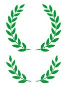 Laurel,Laurel Wreath,Award,Leaf,Winning,Crown,Coat Of Arms,Symbol,Vector,Success,Sport,Insignia,Sign,Green Color,Incentive,First Place,Competition,Contest,Cultures,Majestic,Design Element,Decoration,Celebration,Arranging,Floral Pattern,Conquering Adversity,Achievement,Competitive Sport,Ceremony