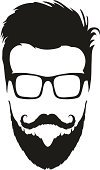 Beard,Hipster,Men,Symbol,Mustache,Computer Icon,Human Face,Hairstyle,Eyeglasses,Portrait,Cool,Abstract,Adult,People,Sign,Ilustration,Silhouette,Drawing - Art Product,Style,Design,Elegance,Fashion,Male,Isolated,Insignia,Vector,Male Beauty,Youth Culture,Modern,Black Color