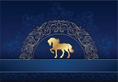 Frame,Retro Revival,Old-fashioned,Lace - Textile,Gold Colored,Blue,Luxury,Backgrounds,Pattern,Greeting Card,Horse,Silhouette,Swirl,Symbol,Year,Ilustration,Design,Ornate,Collection,Riding,Animal,Vector,Pets,Floral Pattern,Book Cover,Wallpaper Pattern,Calendar,Characters,Beautiful,Decoration,Wallpaper,Nature,New,Happiness,Celebration