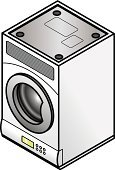 Isometric,Appliance,Dryer,Three Dimensional,Cleaning,invert,Electricity,Electronics Industry,Wall,Domestic Kitchen,Clothing,Electrical Equipment,Tossing,Home Interior,Laundry,Washing,Major Household Appliance,Convenience,Upside Down,Domestic Life,Reversing,Mountain