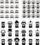 People,Image,Mustache,Occupation,Computer Icon,Photograph,Child,Teenager,Adult,Illustration,Cartoon,Men,Boys,Women,Teenage Girls,Portrait,Vector,Collection,Operator,Icon Set,Avatar