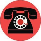 Obsolete,Symbol,Telephone,Computer Icon,Black Color,Old-fashioned,Red,Vector,On The Phone,Dial,Communication