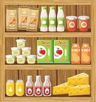 Supermarket,Shelf,Box - Container,Drinking,Full,Juice,Food,Breakfast Cereal,Home Showcase Interior,Retail,Vector,Indoors,Store,Yogurt,Cheese,Pasta,Stock Market,Bottle,Ilustration,Sale,Meal,Variety Show,Ingredient,Variation,Discovery,Checkout,Cream,Choice,Packing,Storage Room,Eating,Buying,Granola