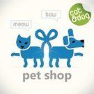 Dog,Domestic Cat,Vector,Veterinary Medicine,Buy,Puppy,Pet Shop,Service,Sale,Modern,Store,Internet,Animal,Bow,Green Color,Web Page,Selling,Blue,Market,Symbol,web design,Red,Order,Shopping,Buying,Customer,Togetherness,Label