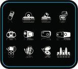 Remote,Symbol,Computer Icon,Control,VCR,Video,Playing,DVD,The Media,Recorder,Information Medium,Audio Cassette,Television Set,Remote Control,Camera - Photographic Equipment,Printing Press,Printing Plant,Set,Vector,dolby,Digitally Generated Image,Stereo,Electrical Equipment,Home Video Camera,Surrounding,MP3 Player,Music,Internet,Computer,Sound,Electronics Industry,Electronics Store,Technology,Sign,Disk,Connection,Data,Design,Design Element,Computer Graphic,Illustrations And Vector Art,Concepts And Ideas,Ilustration,Communication,Clip Art