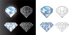 Diamond,Diamond Shaped,Gemstone,Jewelry,Vector,Symbol,Ilustration,Brilliant,Three-dimensional Shape,Isometric,Stone,Luxury,Cross Section,Shiny,Wealth,Bright,Rock - Object,Transparent,Side View,No People,Circle,High Angle View,White Background,Toughness,Reflection,Black Background,Purity,Fashion,Nature,Beauty And Health,Illustrations And Vector Art