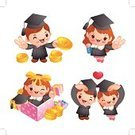 Certificate,Diploma,Characters,Animated Cartoon,Student,Mascot,Couple,Vector,Love,Graduation,Event,Gift,People,Human Heart,Ilustration,Cartoon,Asia,Doctor,Design,Traditional Festival,Ribbon,Cultures,Expertise,Child,Currency,Dancing,Computer Graphic,Fun,Korea