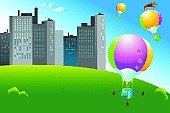 Hot Air Balloon,Town,City,Ilustration,Mid-Air,Park - Man Made Space,Backgrounds,Traditional Festival,Heat - Temperature,Sport,Building Exterior,Built Structure,Urban Scene,Cityscape,Vector,Summer,Basket,Urban Skyline,City Life,Rope,Flying,Transportation,Hobbies,Architecture,Lifestyle,Illustrations And Vector Art,Nature,Cloudscape,Leisure Activity,Blue,Mode of Transport,Multi Colored,Sky,Travel,Cloud - Sky,Sports And Fitness