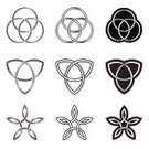 Celtic Culture,Celtic Style,Tied Knot,Symbol,Geometric Shape,Spirituality,triquetra,Eternity,Vector,Irish Culture,Tribal Art,Circle,Star Shape,Christianity,Cross Shape,Indigenous Culture,Harmony,Collection,Isolated On White,Religion,Ilustration,Black And White,Imagination,Decoration,Ideas,knotwork,Pattern,Celtic Knotwork,Silver Colored,Concepts And Ideas,Concepts,Abstract,Illustrations And Vector Art,Tattoo,Inspiration,isolated objects,Celtic Knot,Design,Part Of,In A Row,celt,Creativity,Isolated,Isolated-Background Objects,Illustration Technique,Art And Craft,No People,Art,Vector Ornaments,Design Element,Set,Small Group of Objects