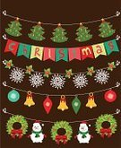 Christmas,Happiness,Illuminated,Computer Graphic,Humor,Effortless,Year,New,Multi Colored,Santa Claus,Garland,Vector,Party - Social Event,Isolated,Holiday,Periodic Table,Cute,Scrapbook,Collection,Greeting