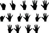 Number,Sign Language,Vector,Human Finger,Human Hand,Communication,Gesturing,Focus on Shadow,Action