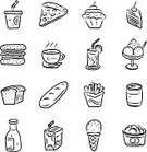 Drawing - Art Product,Drawing - Activity,Pizza,Ilustration,Restaurant,Ice Cream,Sketch,Bread,Black And White,French Fries,Set,Drinking Straw,Cartoon,Symbol,Meal,Soda,Food,Milk,Collection,Black Color,Dessert,Drink,Glass,Cone,Vector,Shadow,Group of Objects,Can,Drinking,Package,Bottle,Cup,Carton,Slice,Gourmet,Juice,Cupcake,Biscuit,Packaging,Candy,Loaf of Bread,White Background,Box - Container,Art,Ice Cream Cone,Cake,Milk Bottle,Isolated,Breakfast