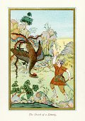 Art,Painted Image,Persian Culture,Engraved Image,Mythological Character,Iranian Culture,Ilustration,Print,Lithograph,Old,Mythology,Fantasy,Speculative Being,Bow,Fairy Tale,Archery,History,Monster,Persian Empire,Iran,Arrow,Historical Geopolitical Location,Bow and Arrow,Antique,Heroes,Iranian Ethnicity,Warrior,Middle Eastern Culture,Empire,People,The Past,Styles,Art And Craft,Simurg,Old-fashioned,Cultures,Weapon,Color Image