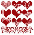 Heart Shape,Cupid,Scroll Shape,Romance,Valentine's Day - Holiday,Art Nouveau,Art Deco,Pattern,Loving,Victorian Style,Silhouette,Flower,Ornate,Growth,Art,Old-fashioned,Swirl,Love,Floral Pattern,Botany,Nature,Craft,Vector,Friendship,Elegance,Curve,Cartouche,Decoration,Desire,Ilustration,Luxury,Plant,leafy,accent,Red,Leaf,Beauty In Nature,Valentine's Day,Holidays And Celebrations,Illustrations And Vector Art,Springtime