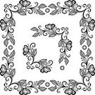 Vector,Retro Revival,Knick Knack,Floral Pattern,Painted Image,Single Line,Deco,Frame,ornamental frame,template,Decoration,Swirl,Ornate,Flower,In A Row,Decor,isolated over white,Style,Black Color,Simplicity,Art,Frame,Computer Graphic,Backgrounds,Corner