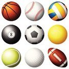 Ball,Sphere,Sport,Basketball - Sport,Basketball,Football,Computer Icon,Equipment,Single Object,Volleyball,Volleyball - Sport,American Football - Sport,Baseball - Sport,Baseballs,Golf,Ilustration,Court Handball,Circle,Vector,Pool Game,Set,Soccer,Tennis,White