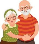 Grandfather,Senior Couple,Grandparent,Two Parents,Senior Women,Senior Men,Family,Senior Adult,Happiness,Eyeglasses,Cheerful,Couple,Embracing,Togetherness,Retirement,Cartoon,Isolated On White,Vector,Ilustration,Adult,Gray Hair,Affectionate,Arm Around,Wife,Standing,People,Parent,White Background,Romance,Aging Process,Married,Smiling,Anniversary,Portrait,Love,Grandmother,Cute,Husband