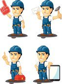 Engineer,Cartoon,Manual Worker,Vector,Mascot,Service,Repairman,Mechanic,Maintenance Engineer,Digital Tablet,Technician,Repairing,Foreman,Isolated,Occupation,Single Object,Industry,Screwdriver,Business,Confidence,Male,Letter,Toolbox,Electronics Industry,Work Helmet,Men,Standing,Tool Belt,Smiling,Machinery,Uniform,Blue,Customized,Hammer,Portable Information Device,Holding,customizable,Electrician,Equipment,Professional Occupation,Plumber,Engineering,Work Tool,Construction Industry,Engine