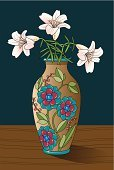 Vase,Lily,Table,Flower Shop,Flower Arrangement,Flower,Ceramics,Decoration,Flowers,Floral Pattern,Nature