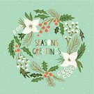 Wreath,Christmas,Holiday,Single Flower,Old-fashioned,Drawing - Activity,Greeting Card,Snowflake,Blue,Frame,Backgrounds,Design Element,Symbol,Nature,Winter,Holly,Bow,Vector,Sketch,Circle,Season,Celebration,Ornate,Green Color,Berry Fruit,Year,Design,Gift,Greeting,Decor,Snow,Humor,Decoration,December,Ribbon,Cultures