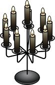 Halloween,Candle,Decor,ambiance,Witchcraft,Isometric,Cultures,Old-fashioned,Glowing,Goth,Comfortable,Candlestick Holder,Elegance,Paranormal