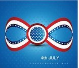National Landmark,Striped,USA,Flag,July,Symbol,Colors,Blue,Celebration,Number 4,Ilustration,Unity,Red,Creativity,Vector