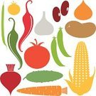 Tomato,Silhouette,Symbol,Icon Set,Vegetable,Computer Icon,Bean,Agriculture,Corn,Vector,Green Pea,Crop,Food,Variation,Raw Potato,Corn - Crop,Kidney Bean,Chili Pepper,Red,Carrot,Cucumber,Green Color,Set,Vegetarian Food,Garlic,Pepper - Vegetable,Yellow,Collection,Sign,Ripe,Onion,Design Element,Autumn,Beet,Isolated