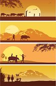 Thailand,Vietnam,Farmer,Myanmar,China - East Asia,Silhouette,Cultures,Agriculture,Farm,Rural Scene,Retro Revival,Asian Ethnicity,Asia,Asian and Indian Ethnicities,Mountain,South,Ilustration,Scenics,Urban Scene,Non-Urban Scene,Offspring,Kite - Toy,Orange Color,mother and child,Backgrounds,Indigenous Culture,Working,Vector,Enjoyment,Lifestyles,Walking,Sunrise - Dawn,Sunset,Country - Geographic Area,Occupation,Family,Water Buffalo,Travel,Indochina,Sun,Horizontal,Riding,Laos,Nature
