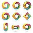 Infinity,Circle,Abstract,Symbol,Variation,Modern,Multi Colored,Ideas,Set,Shape,Design,Internet,Collection,Design Element,Three Dimensional,Vibrant Color,Single Object,Concepts,Adversity,Three-dimensional Shape