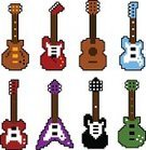 Pixelated,Guitar,Computer Icon,Icon Set,Electric Guitar,Rock and Roll,Electricity,Vector,Ilustration,Equipment,Pop,Isolated,Collection,Power Line,Musical Instrument String,Blues,Musical Instrument,Design,pixel art,Set,Entertainment,Old-fashioned,Bass Guitar,Music,Wood - Material,Acoustic Guitar