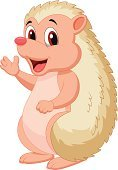 Porcupine,Cartoon,Hedgehog,Animals In The Wild,Cheerful,Rodent,Mammal,Toy,Waving,Doll,Humor,Fun,Vector,Characters,Animal,Young Animal,Mascot,Animal Hand,Waving,Cute,Happiness