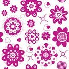 Love,Nature,Design,Drawing - Art Product,Plant,Shape,Pink Color,Red,Circle,Pattern,Textile,Flower,Leaf,Petal,Poppy,Summer,Rose - Flower,Decoration,Backgrounds,Beauty,Heart Shape,Baby,Adult,Art And Craft,Art,Cute,Ornate,Valentine's Day - Holiday,Abstract,Illustration,Floral Pattern,Group Of Objects,Women,Vector,Retro Styled,Beautiful People,Background,Rose,Seamless Pattern