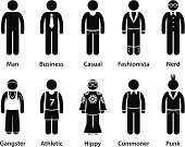 Computer Icon,People,Symbol,Stick Figure,Clothing,Nerd,Hip Hugger,Hipster,Casual Clothing,Silhouette,Group Of People,Business,The Human Body,Businessman,Men,Hippie,Individuality,Fashion,Stick - Plant Part,Characters,Attitude,Emotion,Forecasting,Punk,Typing,Hooligan,Vector,Style,Cartoon,Organized Group,Variation,Dress,Gangster