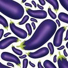Pattern,Vegetable,Freshness,Backgrounds,Food And Drink,Ripe,Vegan Food,Food,Healthy Lifestyle,Nature,Eggplant,Vector,Seamless,Meal,Vegetarian Food,Organic,Ilustration,Snack