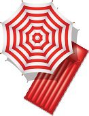 Beach Umbrella,Vector,Sunshade,Leisure Activity,Mattress,Sunbathing,Travel,Holiday,Tropical Climate,Inflatable,Isolated,Beach,Summer,Sport,Vacations,Opening,Parasol,Recreational Pursuit,Travel Destinations,Season,Pool Raft,Air,Umbrella,Climate,Open,Heat - Temperature,Protection,Idyllic,Relaxation,Red,Fun
