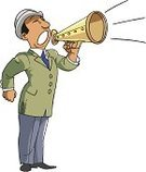 Bullhorn,Shouting,Men,announce,Cartoon,Communication,Concepts And Ideas