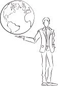 Globe - Man Made Object,Drawing - Activity,Planet - Space,Men,Concepts,Earth,Ideas,Backgrounds,World Map,Map,Connection,Global Communications,Global Business,Education,Travel,Human Hand,Business Travel,Global,Sketch,Businessman,Cyberspace,Business,Sign,Image,Technology,Topography,Computer Graphic,Black And White,Virtual Reality Simulator,Success,Pencil Drawing,One Person,Isolated,Drawing - Art Product,Pattern,Teaching,Paintings,Showing,Symbol,Whiteboard,Digitally Generated Image,Diagram,Digital Display,Occupation,Inspiration,Vector,Abstract,Science,Cartoon,Ilustration,Working,Monochrome,Plan,White,Physical Geography,Modern,Caucasian Ethnicity,Design Professional,continent,People Traveling,Design,Creativity